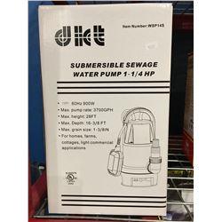 SUBMERSIBLE SEWAGE WATER PUMP 1 1/4HP