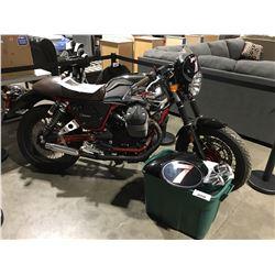 2015 MOTO GUZZI, V7 RACER MOTORCYCLE, GREY, VIN ZGULWUA2XFM200384