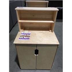 WOOD DESIGNS EARLY LEARNING KIDS FURNITURE NATURAL CABINET & HUTCH