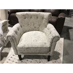 NOSTALGIC UPHOLSTERED ACCENT CHAIR