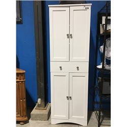 WHITE PANTRY/STORAGE CABINET
