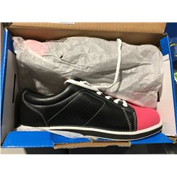 PAIR OF BSI WOMENS BOWLING SHOES SIZE 8 BLACK WITH PINK TOES