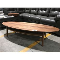 MID CENTURY INSPIRED LONG OVAL COFFEE TABLE