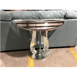 BEVELED MIRRORED FINISHED CONSOLE/HALL TABLE
