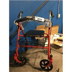 DRIVE ROLLATOR MEDICAL ASSIST WALKER