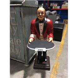 3' TALL GENTLEMAN WITH GLASSES SERVER FIGURE