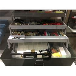TACKLE BOX OF FLY TYING EQUIPMENT