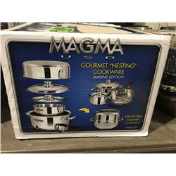 MAGMA USA GOURMET NESTING COOKWARE SET MARINE EDITION