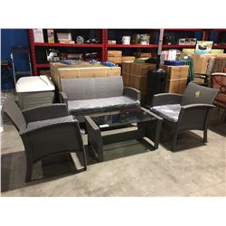 4 PC GEORGIA OUTDOOR PATIO CONVERSATION SET