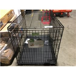 ICRATE FOLDING DOUBLE DOOR DOG CRATE