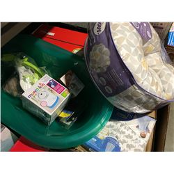 1 BOX OF ASSORTED BABY ITEMS