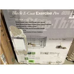 BLACK E-COAT PET EXERCISE PEN