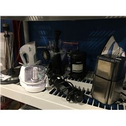 SHELF LOT OF ASS'D SMALL KITCHEN APPLIANCES