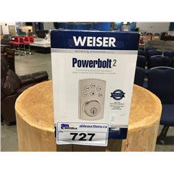 WEISER POWER BOLT 2 TOUCHPAD ELECTRONIC DEAD BOLT