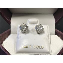 14K WHITE GOLD DIAMOND EARRINGS - APPRAISAL $5700.00