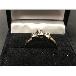 LADIES 14K WHITE & YELLOW GOLD 3 DIAMOND RING - APPRAISAL $4215.00