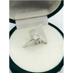 LADIES 10K DIAMOND SOLITAIRE RING - APPRAISAL $2750.00