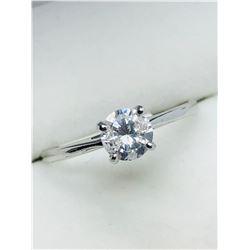 LADIES 14K WHITE GOLD THREE DIAMOND  RING - APPRAISAL $1600.00