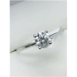 10K WHITE GOLD DIAMOND SOLITAIRE RING - APPRAISAL $1200.00