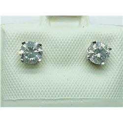 14K WHITE GOLD  DIAMOND EARRINGS - APPRAISAL $1100.00