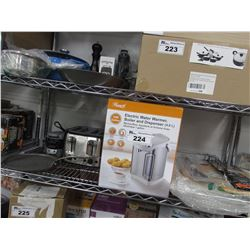 ROSEWILL ELECTRIC WATER WARMER, COOKING PANS, BLACK & DECKER 4-SLICE TOASTER, KITCHEN UTENSILS,