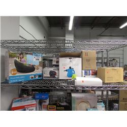INTEX INFLATABLE CHAIR, HUMIDIFIER, INTEX ELECTRIC PUMP, HANDHELD STEAM CLEANER, OUTDOOR LIGHT