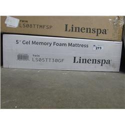 """LINENSPA 5"""" TWIN GEL MEMORY FOAM MATTRESS TOPPER"""