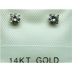 14K WHITE GOLD DIAMOND(0.25CTS)  EARRINGS