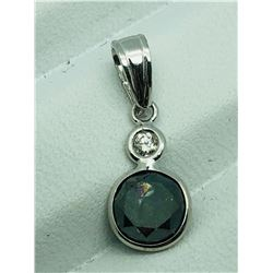 14K WHITE GOLD BLACK DIAMOND (1.5CTS) PENDANT