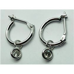 14K WHITE GOLD DIAMOND (0.12CTS)  EARRINGS