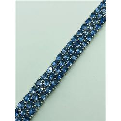 STERLING SILVER TANZANITE (DECEMBER BIRTHSTONE)(21.7CTS)  BRACELET