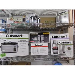 CUISINART COUNTERTOP PROGRAMMABLE 6.5 QUART SLOW COOKER, CUISINART SAUCE PAN, CUISINART COMPACT