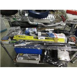 WINDSHIELD WIPERS, ELECTRONIC IGNITION, NGK WIRE SET, EDGE TRIM, ASSORTED AUTOMOTIVE EQUIPMENT