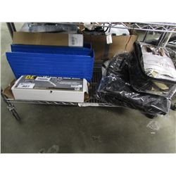 """16"""" UNDER CAR WATER BROOM, PLASTIC ORGANIZING TRAYS, CAR SEAT COVERS, ETC"""