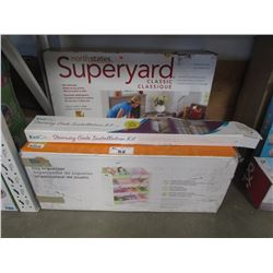SUPERYARD PLAY YARD, STAIRWAY GATE INSTALLATION KIT, TOY ORGANIZER