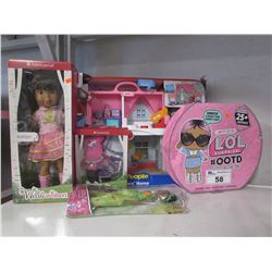 FISHERPRICE BIG HELPERS HOME, LOL SURPRISE OOTD SET, AMERICAN GIRL ASHLYN DOLL & ACCESSORIES,