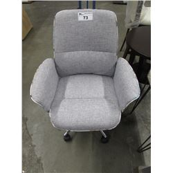 GREY TUB STYLE OFFICE CHAIR
