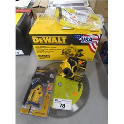 "DEWALT 7-1/4"" LIGHTWEIGHT CIRCULAR SAW, DEWALT 18 GA SHEAR ATTACHMENT, EVOLUTION 14"" BLADE, DEWALT"