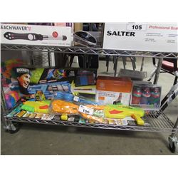 BOOMCO SPINSANITY 3X GUN, GAIAM STAY-N-PLAY BALL, SHARK SQUIRT GUNS, SNOWBALL MAKERS, CONTIGO KIDS