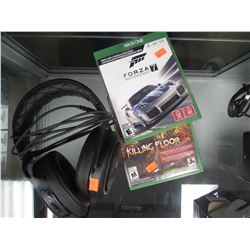 2 XBOX ONE GAMES & HEADPHONES