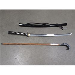 KATANA & DECORATIVE CAIN