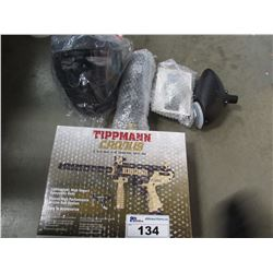 TIPPMANN CRONUS SEMI AUTOMATIC .68 CALIBER PAINTBALL MAKER & ACCESSORIES