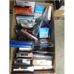 BOX OF ASSORTED CELLPHONE CASES & ACCESSORIES, VIDEOGAMES, BLURAYS, ELECTRONICS, ETC