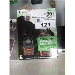 2 COBRA ACXT645 WALKIE TALKIE RADIOS & 2 MICROTALK WALKIE TALKIES
