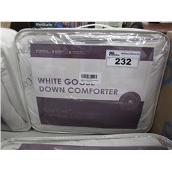 ROSE COSE WHITE GOOSE DOWN QUEEN SIZE COMFORTER