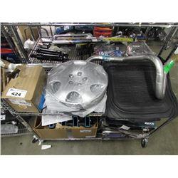AUTOMOTIVE FLOOR MATS, HUB CAPS & ASSORTED PARTS