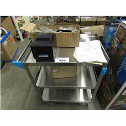 3 TIER STAINLESS STEEL UTILITY CART, THERMAL RECEIPT PRINTER, REESE DUAL CAM HP HIGH-PERFORMANCE