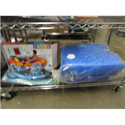 INTEX INFLATABLE BOAT, INFLATABLE O-ZONE WATER BOUNCER, SNORKEL KIT