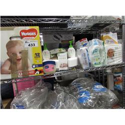 HUGGIES, BABY WIPES, NATY BY NATURE BABYCARE, MY BREAST FRIEND, DIAPER GENIE, EARTHLITE, SAFETY 1ST