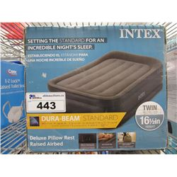 INTEX TWIN SIZE DELUXE PILLOW REST RAISED AIR BED